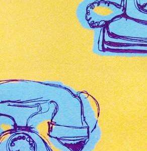 1211-3 Телефон на яр. желт. в ERISMANN-Р Funny Kitchen (12) РЛ