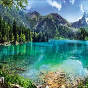 Горное озеро VIP 16л. 392*260 /туб./фотообои/Тула/