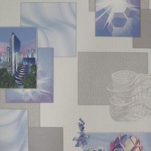 905802 Мегаполис сирен. на сливочном фоне обои  ELYSIUM  Россия